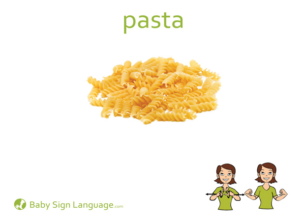 Pasta Baby Sign Language Flash card