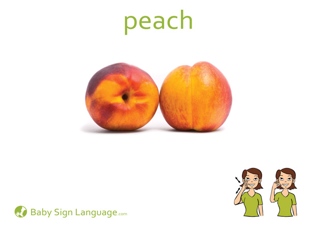 graphic about Printable Baby Flash Cards referred to as Peach