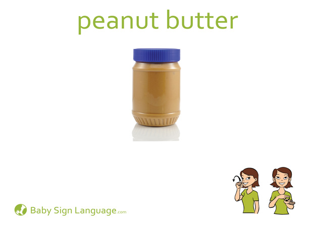 Peanut Butter Baby Sign Language Flash card