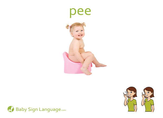 Pee Baby Sign Language Flash card