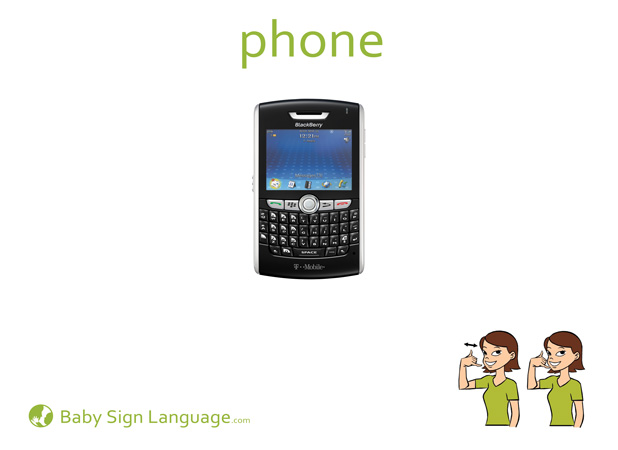 Phone Baby Sign Language Flash card