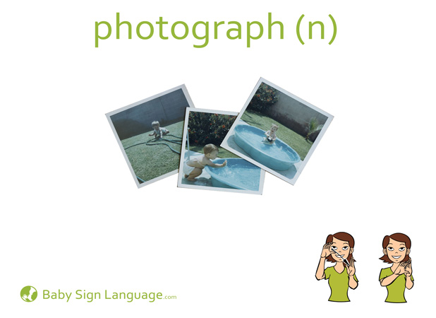 Photograph Baby Sign Language Flash card