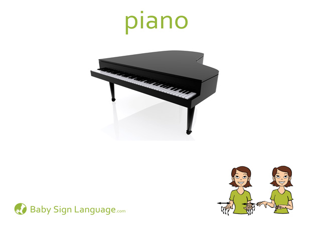 Piano Baby Sign Language Flash card