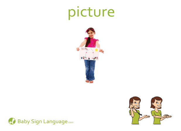 Picture Baby Sign Language Flash card
