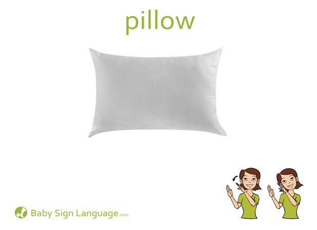 Pillow Baby Sign Language Flash card