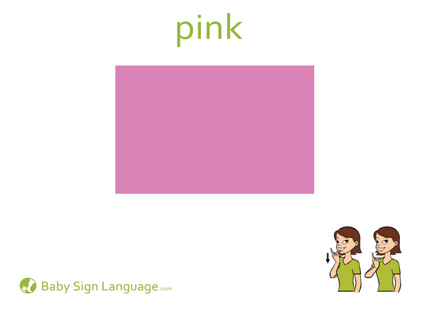 Pink Baby Sign Language Flash card