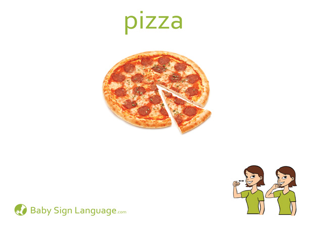 Pizza Baby Sign Language Flash card