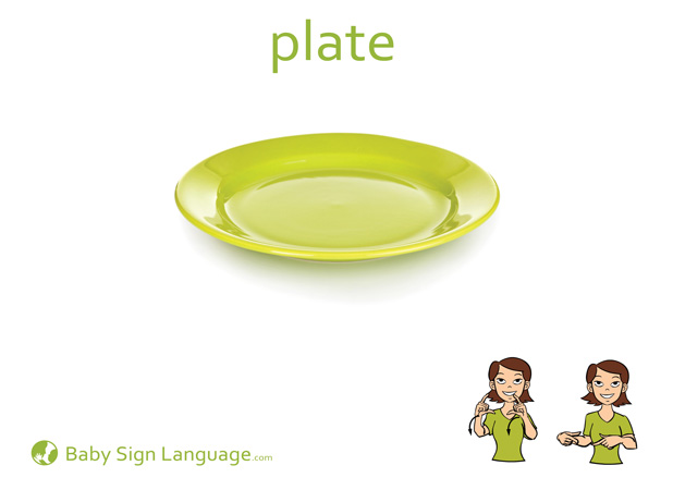 Plate Baby Sign Language Flash card