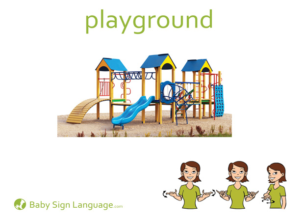 Playground Baby Sign Language Flash card