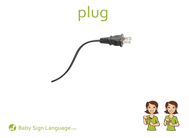 Plug Baby Sign Language Flash card