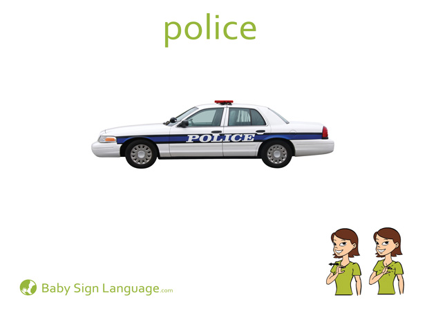 Police Baby Sign Language Flash card