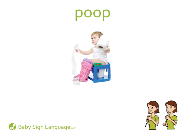 Poop Baby Sign Language Flash card