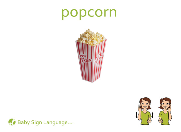 Popcorn Baby Sign Language Flash card