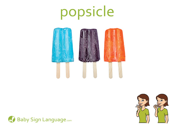 Popsicle Baby Sign Language Flash card