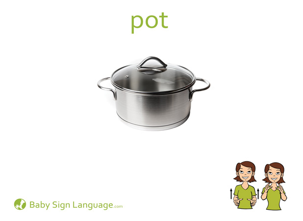 Pot Baby Sign Language Flash card