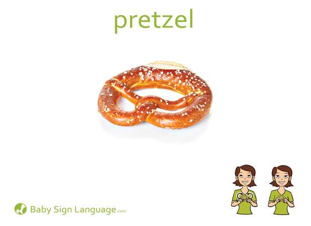 Pretzel Baby Sign Language Flash card