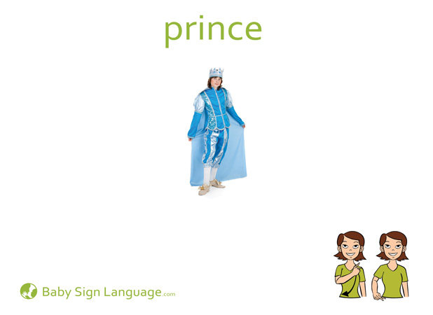 Prince Baby Sign Language Flash card
