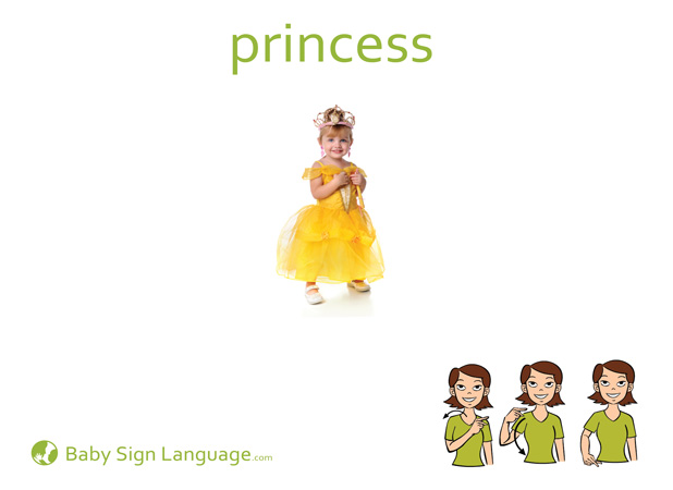 Princess Baby Sign Language Flash card