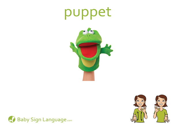Puppet Baby Sign Language Flash card