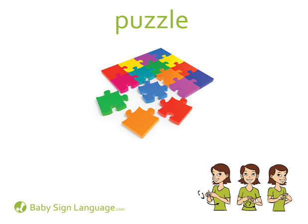 Puzzle Baby Sign Language Flash card