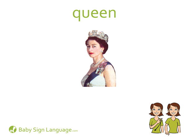 Queen Baby Sign Language Flash card