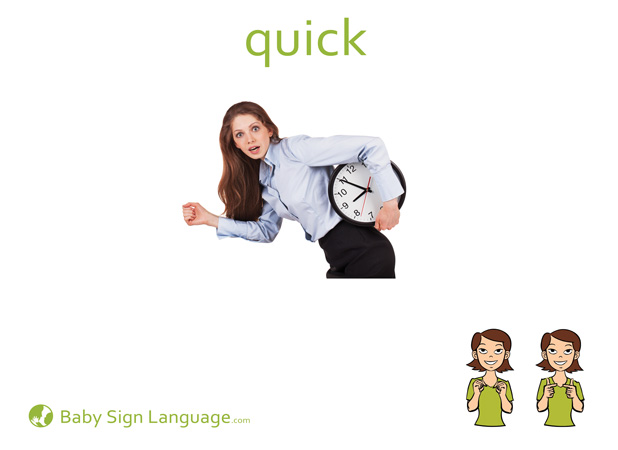 Quick Baby Sign Language Flash card