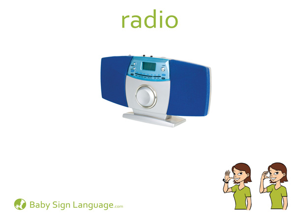 Radio Baby Sign Language Flash card