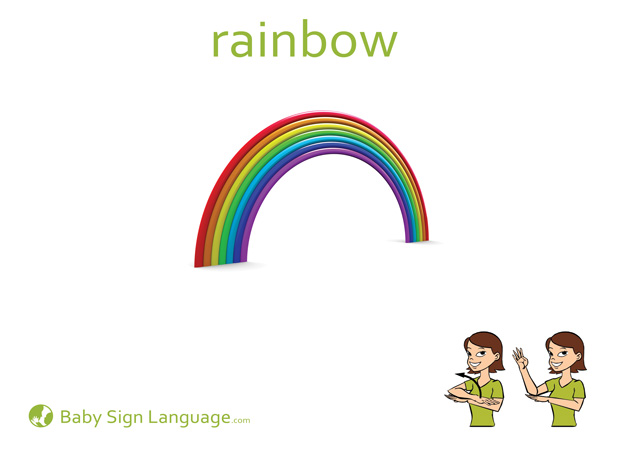 Rainbow Baby Sign Language Flash card