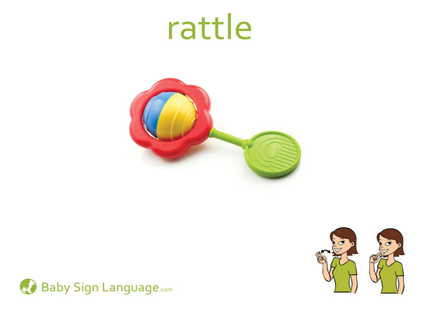 Rattle Baby Sign Language Flash card