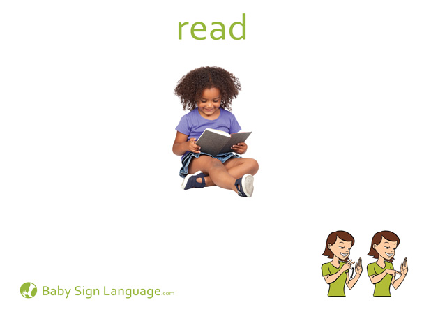 Read Baby Sign Language Flash card