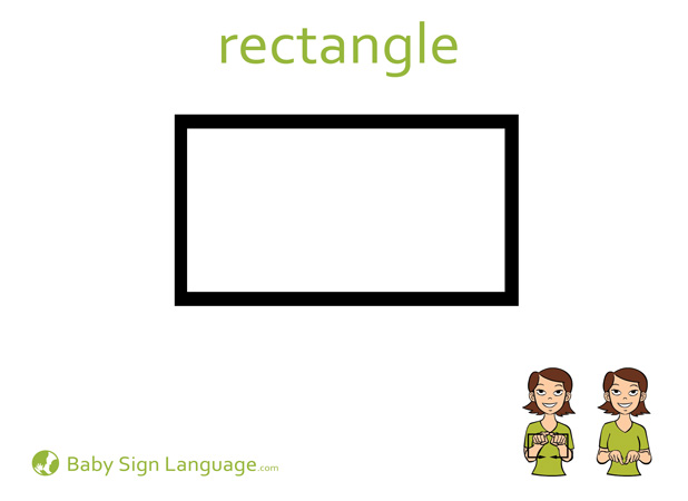 Rectangle Baby Sign Language Flash card
