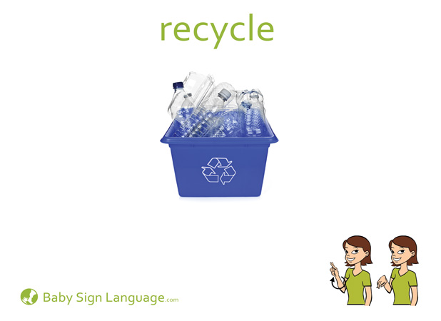 Recycle Baby Sign Language Flash card