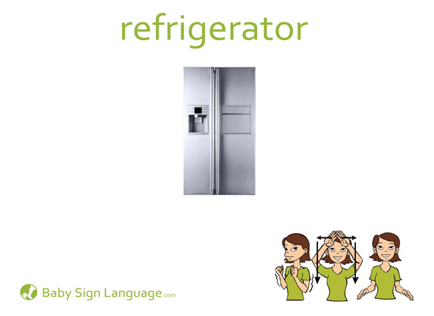 Refrigerator Baby Sign Language Flash card