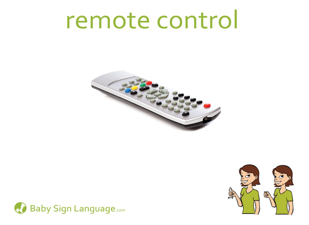 Remote Control Baby Sign Language Flash card