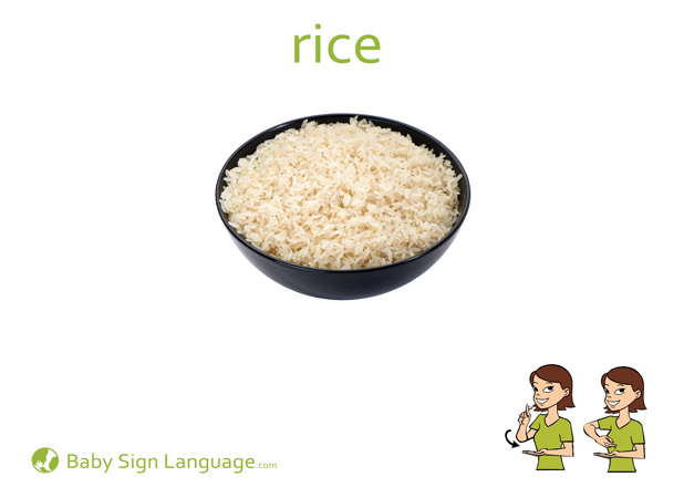 image about Printable Baby Sign Language identified as Rice