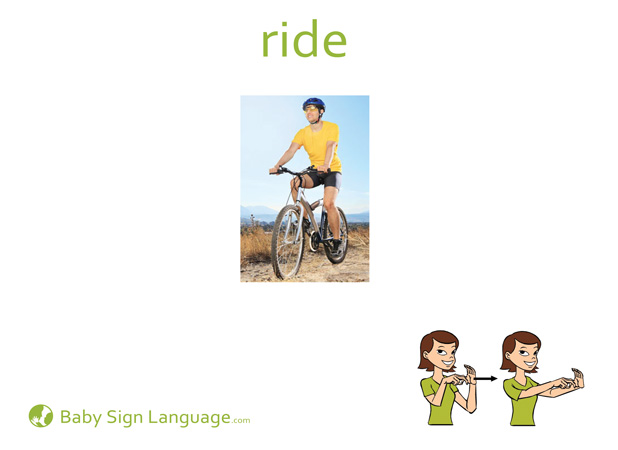 Ride Baby Sign Language Flash card