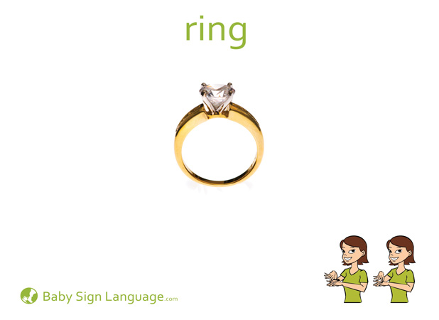 Ring Baby Sign Language Flash card