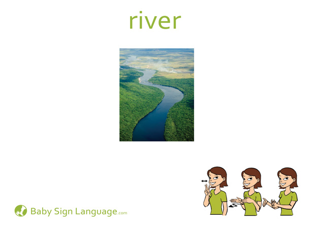 River Baby Sign Language Flash card