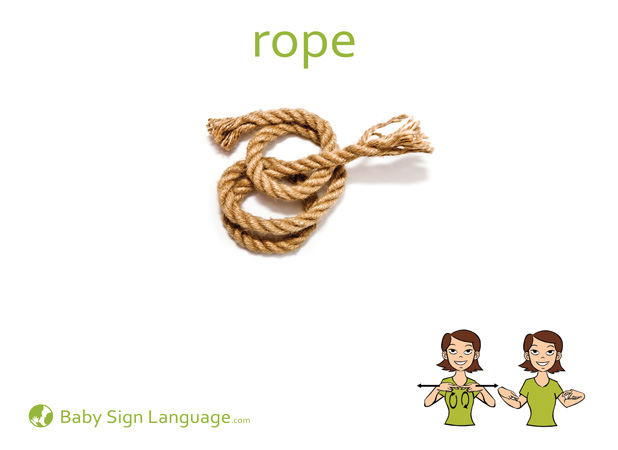 Rope Baby Sign Language Flash card