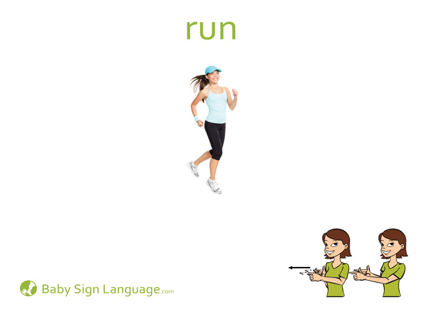 Run Baby Sign Language Flash card