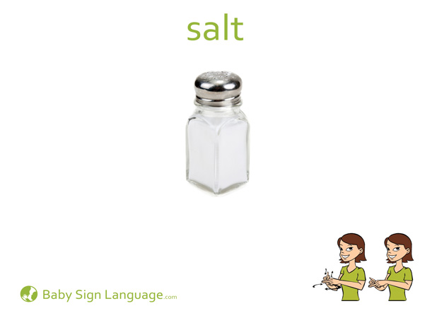 Salt Baby Sign Language Flash card