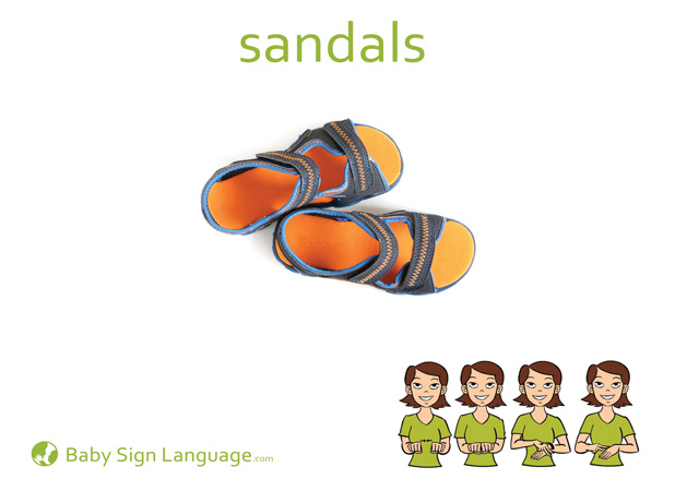 Sandals Baby Sign Language Flash card