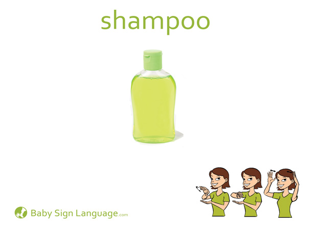 Shampoo Baby Sign Language Flash card