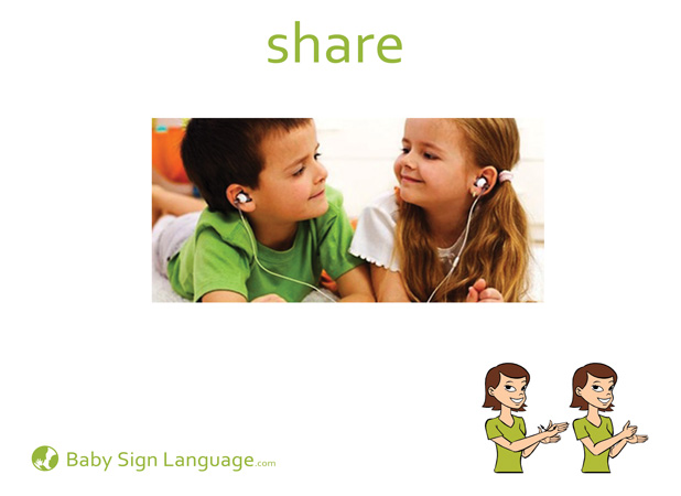 Share Baby Sign Language Flash card