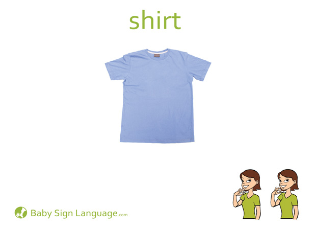 Shirt Baby Sign Language Flash card