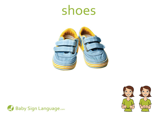 Shoes Baby Sign Language Flash card