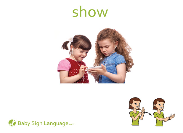 Show Baby Sign Language Flash card