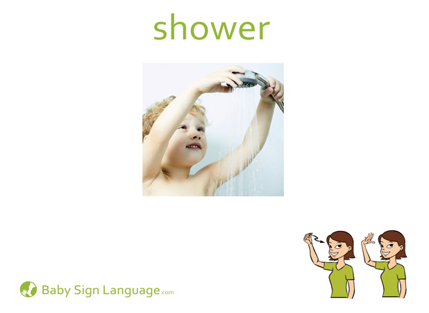 Shower Baby Sign Language Flash card