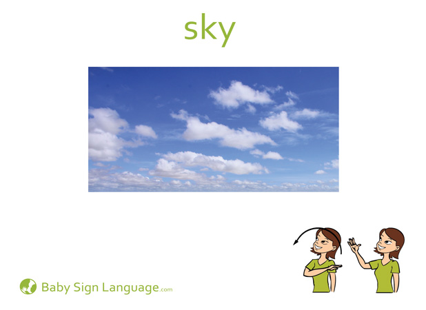 Sky Baby Sign Language Flash card