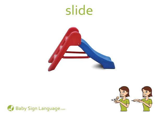 Slide Baby Sign Language Flash card